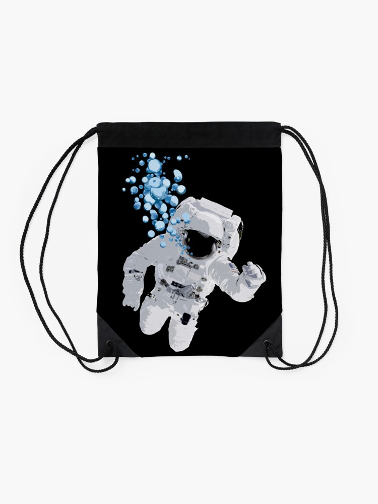 Alternate view of Bubbles In Space - Nasa Hoax - Flat Earth - Space Bubbles Drawstring Bag
