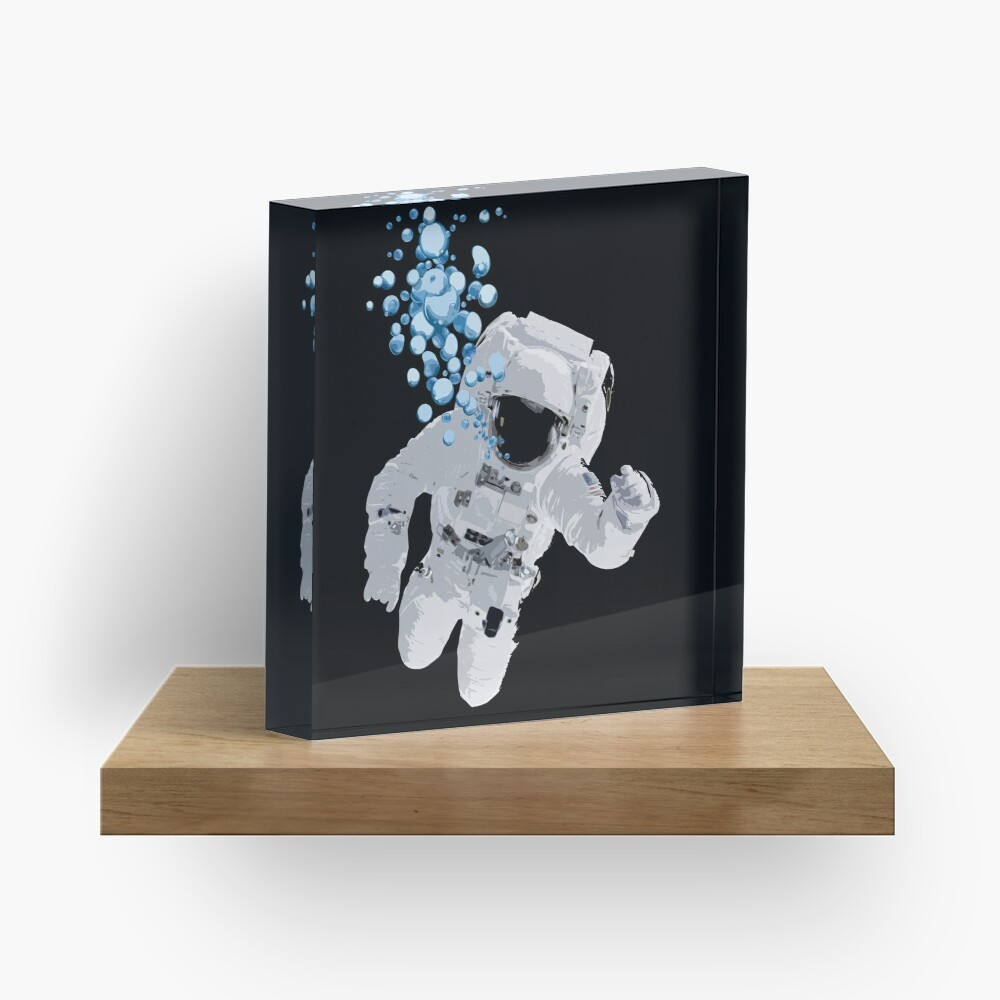 Bubbles In Space - Nasa Hoax - Flat Earth - Space Bubbles Acrylic Block