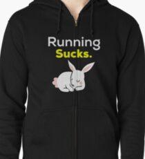 Laufen saugt mit schlafendem Häschen. Hoodie mit Reißverschluss