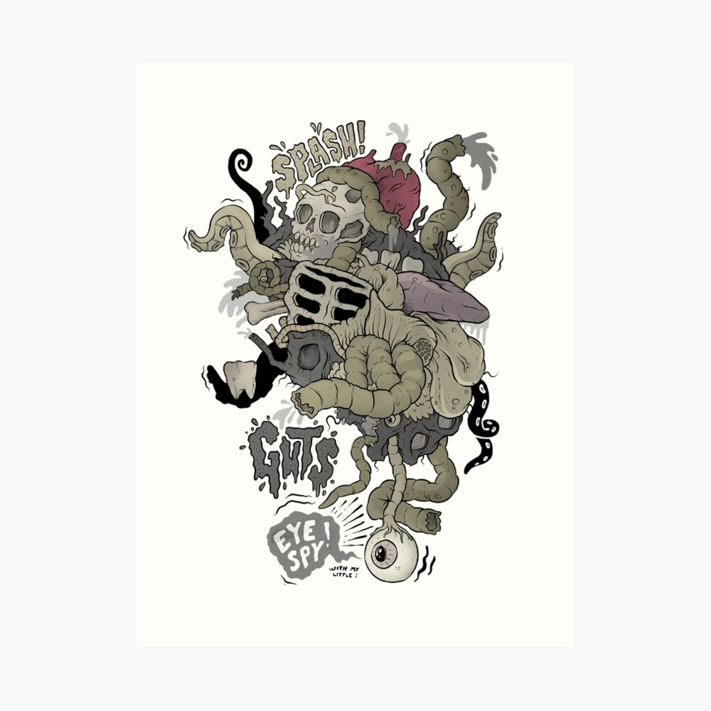 Icky stuff Art Print