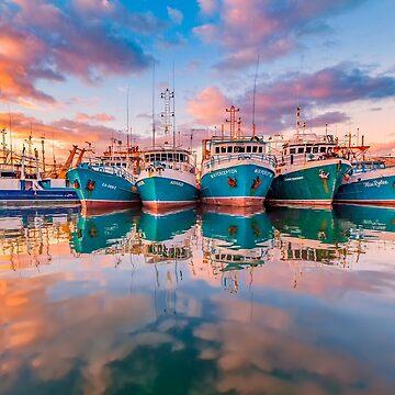 Fremantle Boats, Western Australia by paulmp