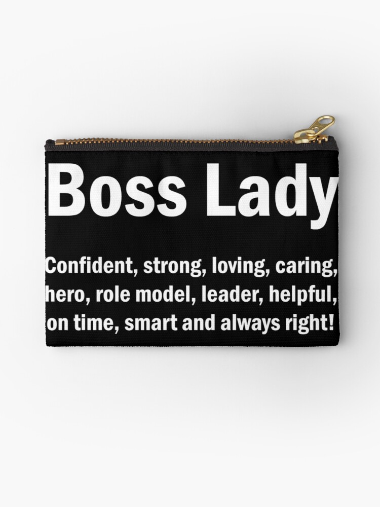\'Boss Lady English Quotes Mom Wife Mother\'s Day Gift\' Zipper Pouch by  JapaneseInkArt