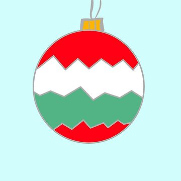 Christmas 2017: Zigzag Bauble Red White Green by flokot