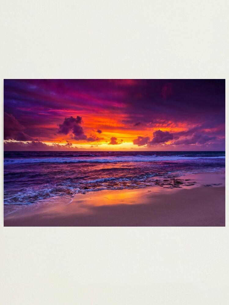 Alternate view of North Beach Sunset, Western Australia Photographic Print