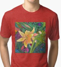 Garden Tox: Lily Tri-blend T-Shirt