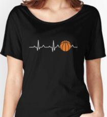 Basketball Heartbeat Women's Relaxed Fit T-Shirt