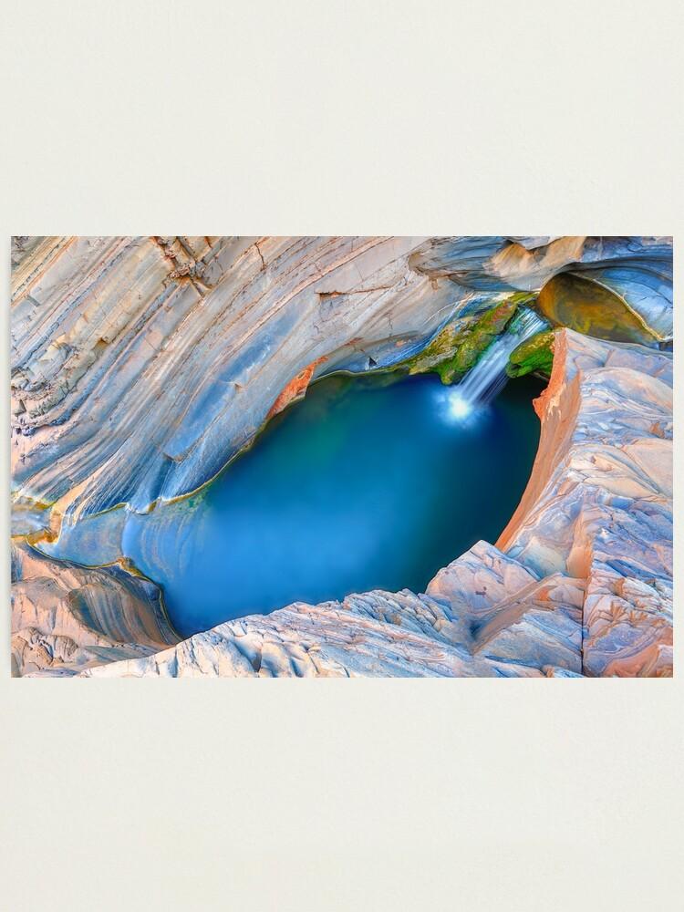 Alternate view of Lower Spa Pool, Karijini, Western Australia Photographic Print