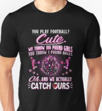 Funny Cheerleading T-Shirt Pretty Pink Quote Flyer Uniform T-Shirt