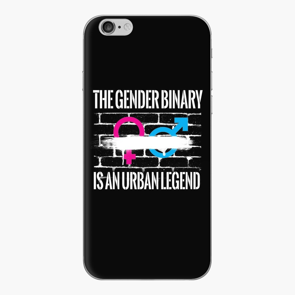 The Gender Binary is an Urban Legend iPhone Skin