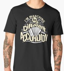 Marching To A Different Accordion Musician Gift For Band Lover Men's Premium T-Shirt
