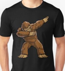 Bigfoot Sasquatch Dabbing T Shirt Funny Dab Monster Gifts Unisex T-Shirt