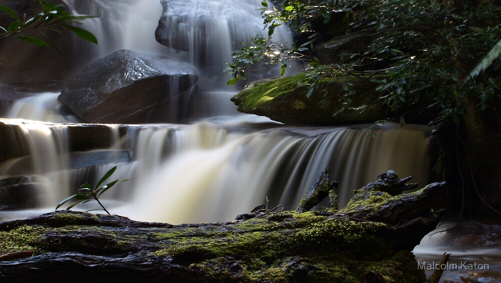Lower Somersby Falls - Gosford, NSW by Malcolm Katon