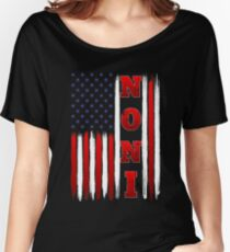 American Flag Noni Cool T Shirt For Mama/Grandma Women's Relaxed Fit T-Shirt