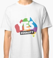 Yes Marriage Equality Australia Classic T-Shirt