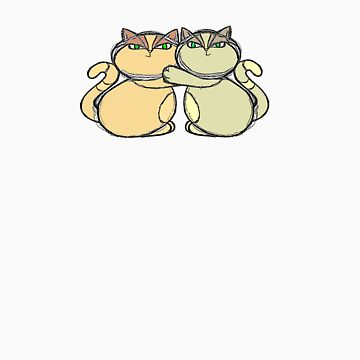 Siamese Sumo Cats by Rowi