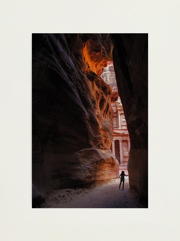 Alternate view of Exploring Petra Photographic Print