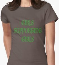 Girls supporting girls Women's Fitted T-Shirt