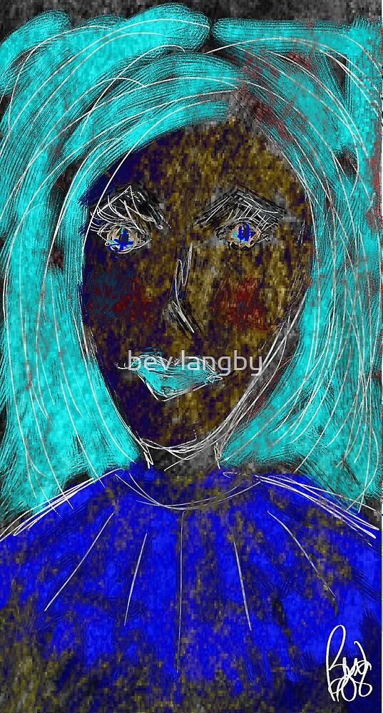 Im Blue  by bev langby