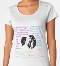 Jareth x Sarah Zitate Premium Rundhals-Shirt