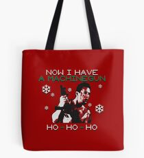 UGLY CHRISTMAS MACHINEGUN Tote Bag
