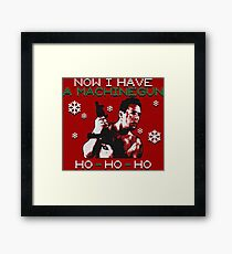 UGLY CHRISTMAS MACHINEGUN Framed Print