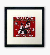 UGLY CHRISTMAS MACHINEGUN Framed Print
