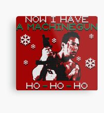 UGLY CHRISTMAS MACHINEGUN Metal Print