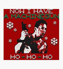 UGLY CHRISTMAS MACHINEGUN Photographic Print
