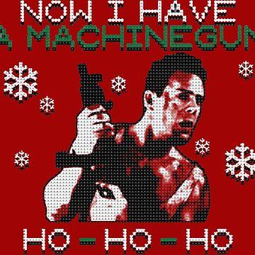 UGLY CHRISTMAS MACHINEGUN by elizaseamons