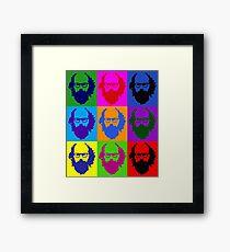 Allen Ginsberg b/w Andy Warhol Framed Print