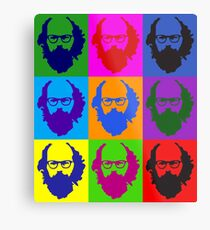 Allen Ginsberg b/w Andy Warhol Metal Print
