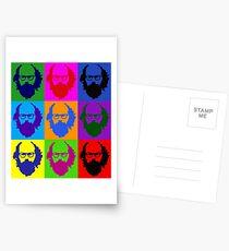 Allen Ginsberg b/w Andy Warhol Postcards