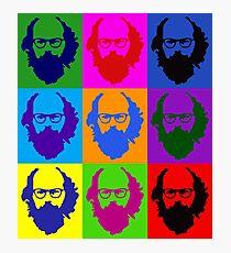 Allen Ginsberg b/w Andy Warhol Photographic Print
