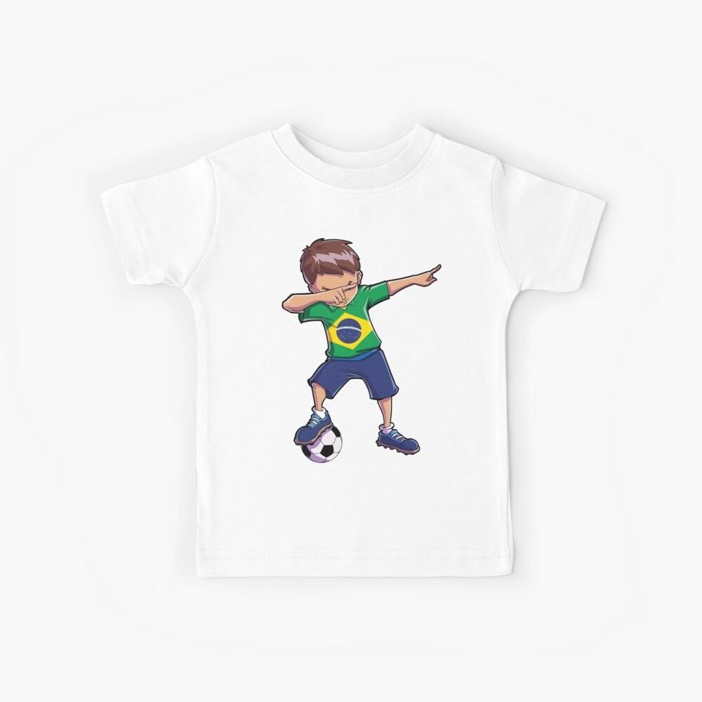 Abtupfendes Fußball-T-Shirt für Brasilien-brasilianischen Fußball der Jungen Kinder T-Shirt