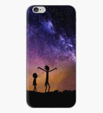 Rick and Morty in Space iPhone Case
