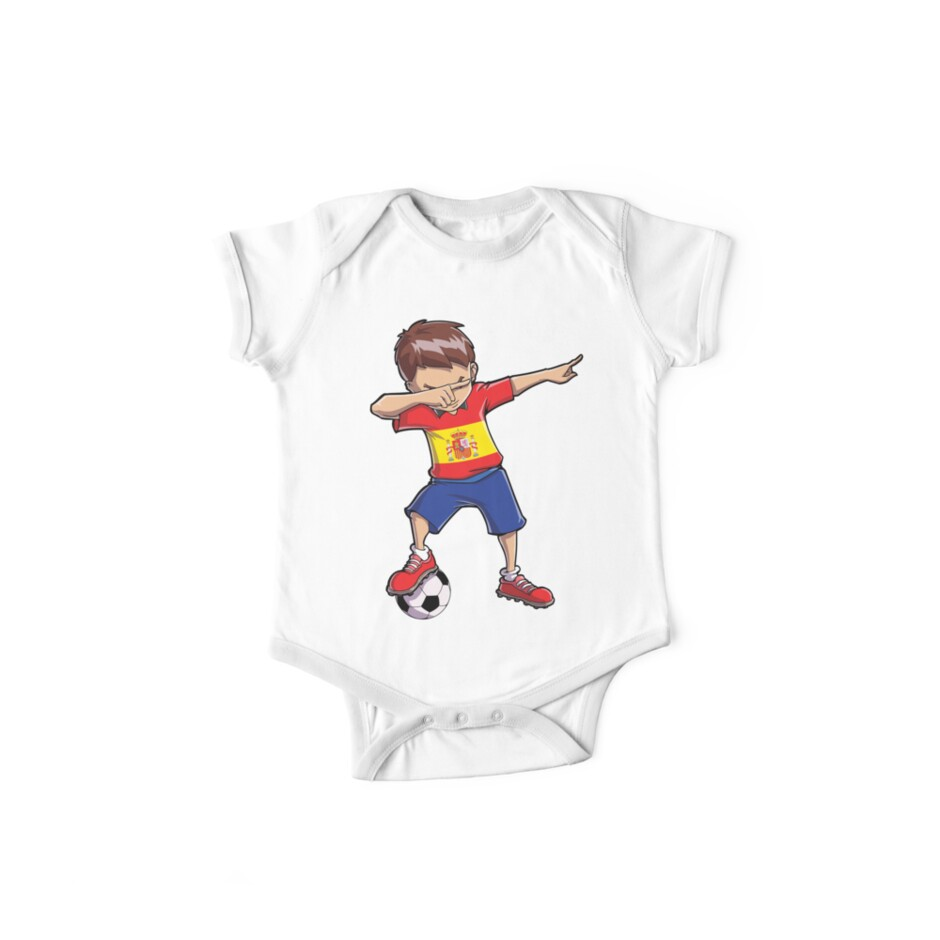 7b96ca87eea Dabbing Soccer T shirt for Boys Spain Spanish Football Gifts