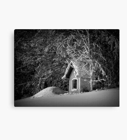 Say hello to winter Canvas Print