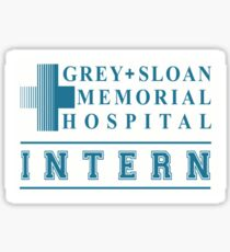 Grey + Sloan Memorial Hospital Intern Sticker