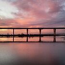 Winter Sunset under the Crossing by Kasia-D
