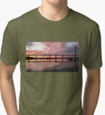 Sunset under the Crossing Tri-blend T-Shirt
