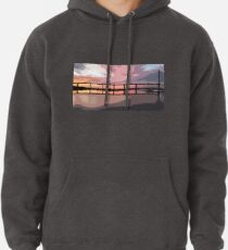 Sunset under the Crossing Pullover Hoodie