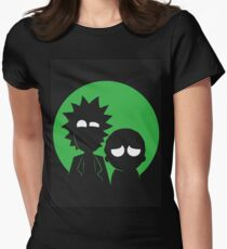 Rick and Morty (Green) Women's Fitted T-Shirt