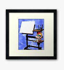 WAIT.....I'm the ARTIST ! Framed Print