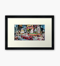 Times Square II widescreen Framed Print