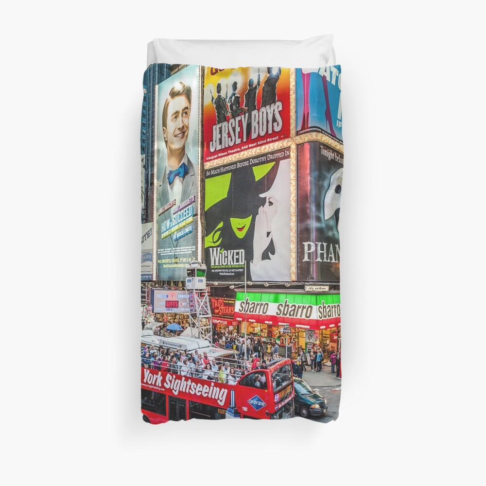 Times Square II widescreen Duvet Cover