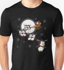SANTA CLAUS WITH PENGUINGS   T-SHIRT Unisex T-Shirt