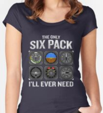 5151ce13e Funny Pilot Quote Cockpit Airplane Flight Intruments Fitted Scoop T-Shirt