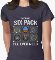 Funny Pilot Quote Cockpit Airplane Flight Intruments Women's Fitted T-Shirt