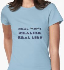 Real Eyes Realize Real Lies Women's Fitted T-Shirt