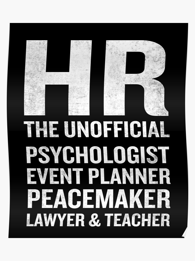 Human Resources T-Shirt Funny HR Unofficial Quote Job Joke | Poster